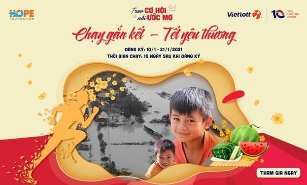 Giải chạy ảo vì Tết ấm no của trẻ em miền Trung