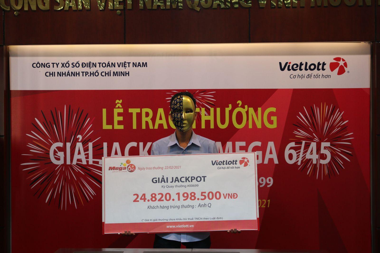 Trao thưởng Jackpot Mega 6/45 hơn 24 tỷ đồng tại Tp. Hồ Chí Minh