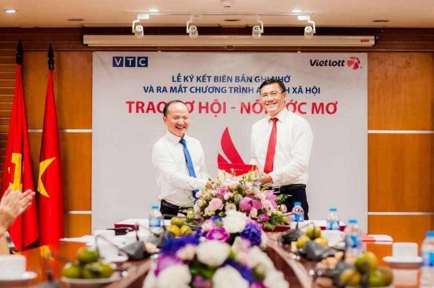 """Vietlott hợp tác VTC thực hiện chương trình ASXH """"Trao cơ hội, nối ước mơ"""""""