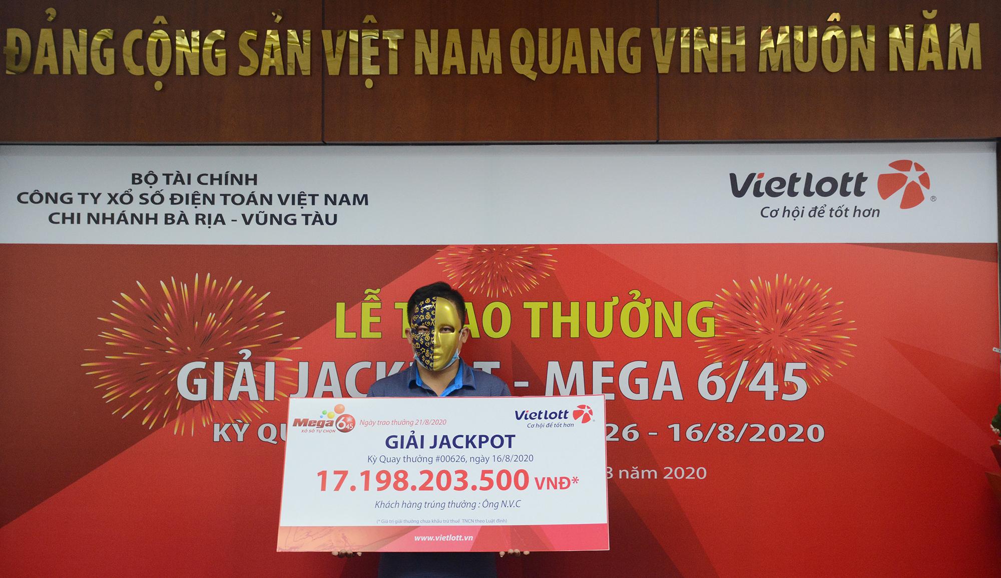 Vietlott trao Jackpot hơn 17 tỷ đồng cho người chơi tại Vũng Tàu