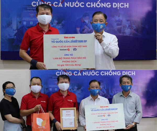 Vietlott đồng hành cùng người dân và các y bác sỹ tuyến đầu tại thành phố Hồ Chí Minh vượt qua đại dịch