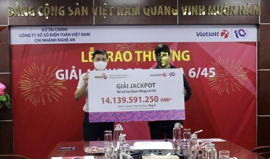 Người chơi tại Nghệ An nhận Jackpot hơn 14 tỷ đồng