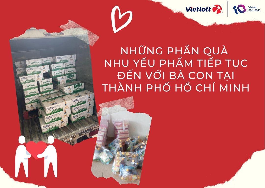 Những phần quà nhu yếu phẩm tiếp tục đến với bà con tại Thành phố Hồ Chí Minh trong mùa dịch