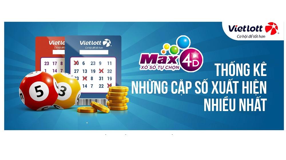 Thống kê số trúng sản phẩm xổ số tự chọn Max 4D