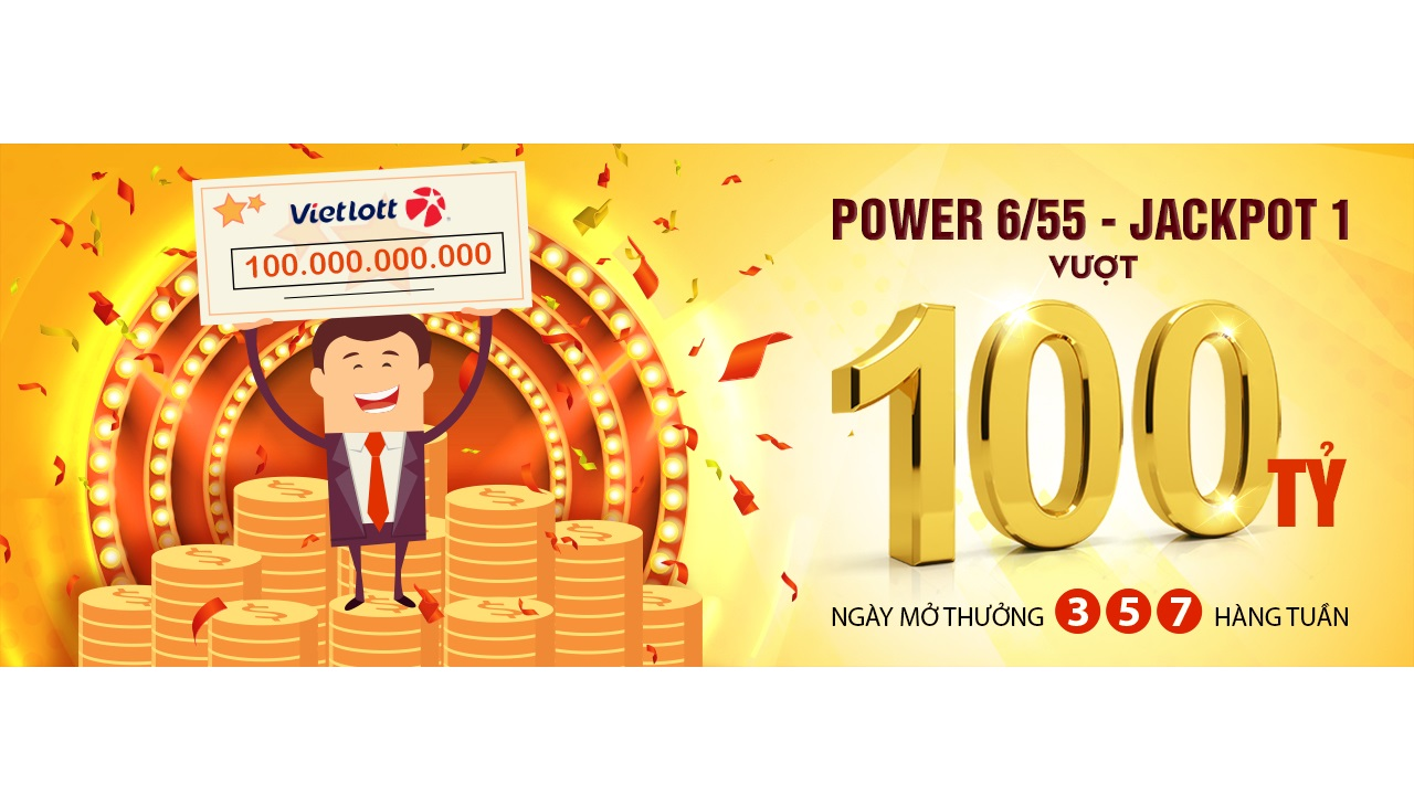 Jackpot 1 Power 6/55 của Vietlott vượt mốc 100 tỷ đồng
