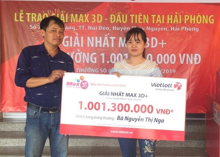 Vietlott – Max 3D: Nữ thợ may Hải Phòng trúng giải tỷ đồng, một khách hàng trúng đến 600 giải