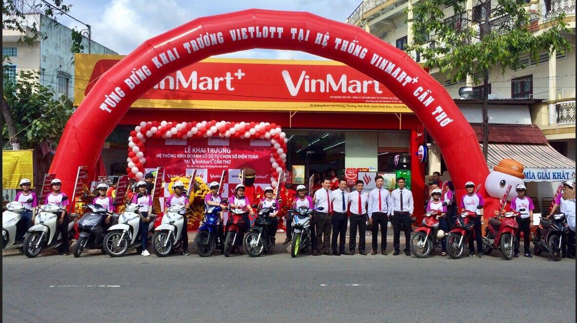 Danh sách chuỗi cửa hàng tiện lợi VinMart+ có bán Vietlott trên cả nước
