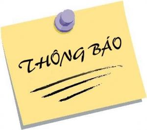 THÔNG BÁO